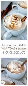 Slow Cooker White Chocolate Cinnamon